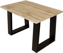 Журнальный столик DC Rod 660х440х16 мм Дуб Тахо 2 ноги черные квадрат (DC121388)