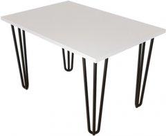 Журнальный столик DC Zac 660х440х16 мм Белый 4 ноги черные прутовые (DC121361)