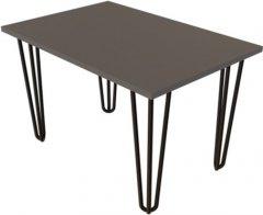 Журнальный столик DC Zac 660х440х16 мм Графит 4 ноги черные прутовые (DC121364)