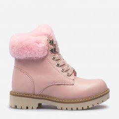Ботинки кожаные VUVU KIDS Pink skin 666 26 (9.5) (8.5) 16.2 см Розовые (8380000266626)