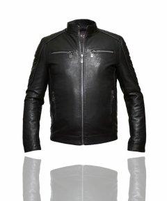 Куртка з натуральної шкіри молодіжна Kasi K8NV (54) Чорна