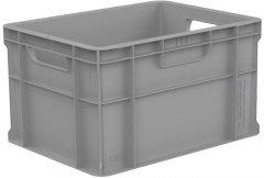Ящик пластиковый сплошной Полимерцентр 400x300x230 мм Серый (ST4323-1000-GY)