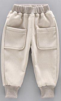 Дитячі спортивні штани з кишенями на резинці Колір бежевий 120см