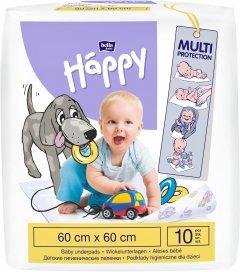Одноразовые пеленки Bella Baby Happy 60x60 см 10 шт (5900516601669)