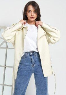 Куртка из экокожи Remix W2117 L Молочная (Rem2200000008916)