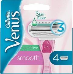 Сменные картриджи для бритья (Лезвия) женские Venus Smooth Sensitive 4 шт (7702018575381)
