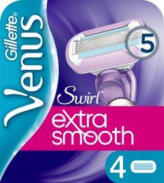 Сменные картриджи для бритья (Лезвия) женские Venus Extra Smooth Swirl 4 шт (7702018401208)