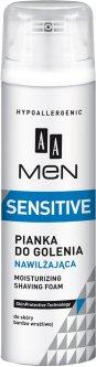 Пена для бритья для мужчин AA Cosmetics Men Sensitive Увлажняющая 250 мл (5900116020167)