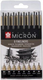 Набор линеров Sakura Pigma Micron 8 шт Черный (8712079459536)
