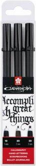 Набор ручек для каллиграфии Sakura Pigma Calligrapher 3 шт (8710141130772)
