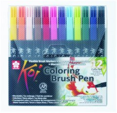 Набор маркеров Sakura Koi Coloring Brush Pen 12 цветов (084511391772)