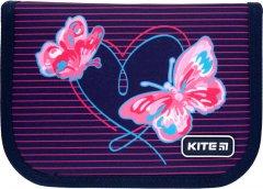 Пенал с наполнением Kite Education Butterflies 1 отделение 2 отворота Темно-синий Джинс (K21-622H-3)