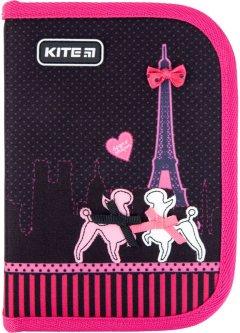 Пенал с наполнением Kite Education Weekend In Paris 1 отделение 2 отворота Черный (K21-622H-1)