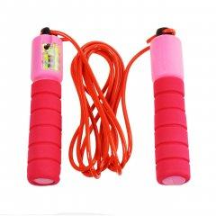 Спортивная скакалка со счетчиком, цвет розовый (HOP-5732005)