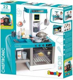Интерактивная кухня Smoby Toys Шеф с эффектом кипения Голубая (311409) (3032163114093)