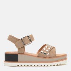 Босоножки XTI Microfiber Ladies Sandals 48810-1129 41 Темно-бежевые (8434739310642)