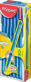 Набор шариковых ручек Maped Ice Синих 1 мм Синий корпус 12 шт (MP.224434)
