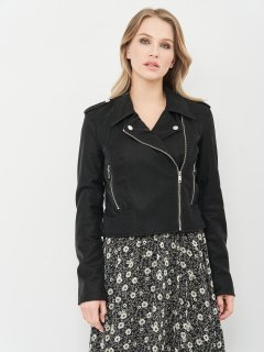 Куртка из искусственной кожи Guess W1RL99-WDOC0 XS Jet Black (7618483467390)