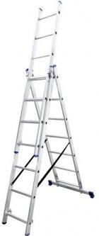 Алюминиевая трехсекционная лестница Virastar Triomax 3х7 ступеней (VTL037)
