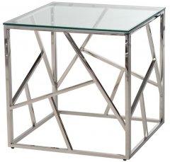 Стол кофейный Vetro Mebel CF-2 Прозрачный / серебряный (CF-2-crystal)