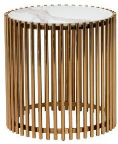 Журнальный столик Vetro Mebel CJ-1 Белый мрамор / золотистый (CJ-1- wht marble+gold)