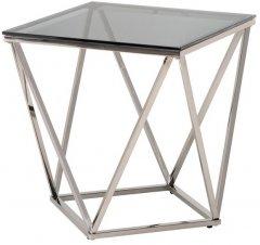 Стол кофейный Vetro Mebel СP-2 Тонированный / серебряный (СP-2- toned)