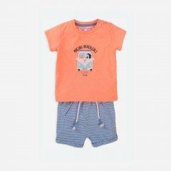 Костюм (футболка + шорты) Minoti Days 2 16148 80-86 см Оранжевый (5059030468705)
