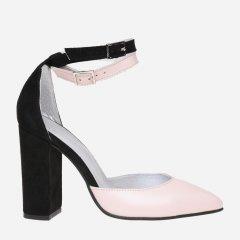 Туфли Maurizi 1000-11 37 23.5 см Черно-пудровые (H2400000154983)