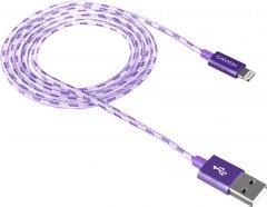 Кабель Canyon Lightning - USB 1 м Violet (CNE-CFI3P)