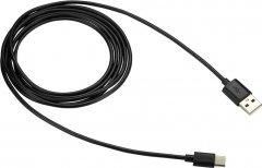 Кабель Canyon USB - USB-C 1.8 м Black (CNE-USBC2B)