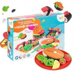 Набор для детской лепки из легкого пластилина Genio Kids Шеф-повар (TA1718) (4814723008115)