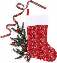 Носок для подарков ColorWay Merry Christmas Снежинки 38 см Red (CW-MCS38RED)