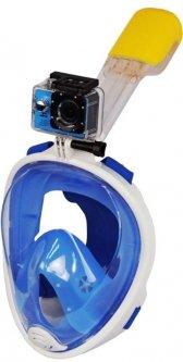 Маска для снорклинга Easybreath, Голубой L/XL (5050-0001)