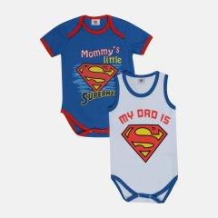 Боди DC Comics Супермен SM15553 56-62 см 2 шт Сине-белое (8691109794352)