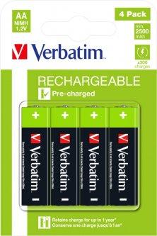 Аккумуляторные батарейки Verbatim типу AA (HR6) 4 шт (49517)