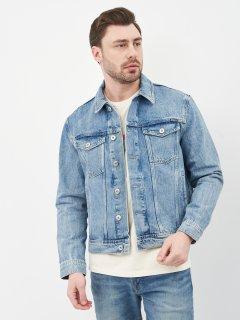 Джинсовая куртка Superdry M5010277A-3MG XL Broom Light Blue (5059046309092)