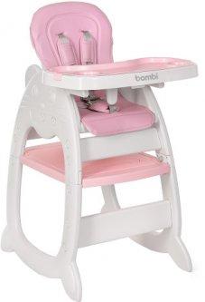 Стульчик для кормления Bambi 2в1 M 3612-8 pink (6903180072017)