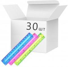 Набор линеек KLERK пластиковых 15 см Разноцветных 30 шт (Я45841_KL3157_30)