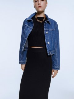 Джинсовая куртка Zara 6929/206/400-ACXD XS Синяя (DD3000002823307)
