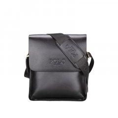 Повседневная мужская сумка через плечо Polo Vicuna Черная (8801-2-BL)