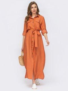 Платье Dressa 53811 46 Оранжевое (2000405741483_D)