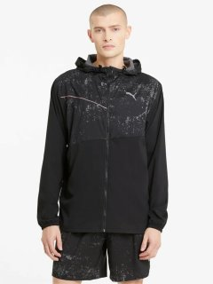 Ветровка Puma Run Graphic Hooded Jacket 52020501 L Black (4063697429734)