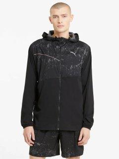 Ветровка Puma Run Graphic Hooded Jacket 52020501 L Black (4063697429734)