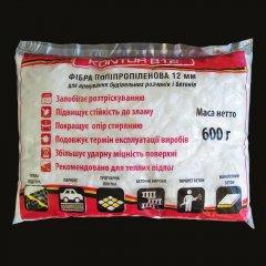Фибра полипропиленовая для штукатурки и гипсовых изделий KONTUR В-12, 600 г