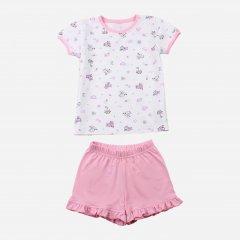 Пижама (футболка + шорты) Фламинго 228-420 98 см Белый/Розовый (4829960128076)