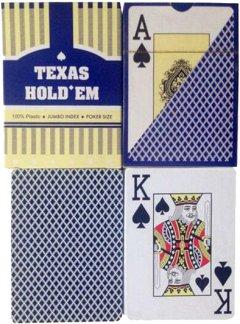 Карты игральные Duke Texas Hold'em, пластик, 54 листа 9.3х6.6х1.8 см Синие (DN30766BL)