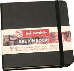 Блокнот для графики Royal Talens Art Creation 12 х 12 см 140 г/м2 80 листов черный (8712079383527)