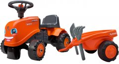 Детский трактор-каталка Falk 260C Kubota с прицепом Оранжевый (260C)