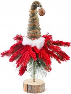 Искусственная елка-гномик Новогодько (YES! Fun) 47 см заснеженная красным снегом (904266) (4820079042666)