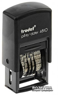 Минидатер Trodat 4810 3.8 мм Цифровой Черный корпус (4810Bank)